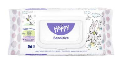 HAPPY Vlhčené ubrousky Sensitive á 56 ks