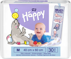 Happy dětské hygienické podložky 60x40 cm á 30 ks