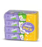 HAPPY Mega pack vlhčené ubrousky Hedvábí & Bavlna á 64 ks x 4